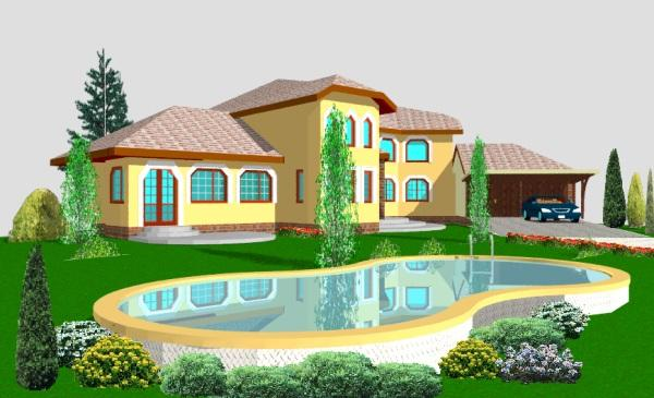 3d office design projects in full 3d color for My house design software